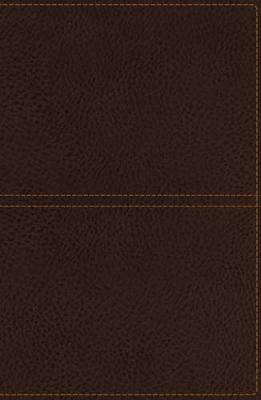 KJV, Reference Bible, Giant Print, Imitation Leather, Brown, Red Letter Edition (Leather / fine binding)