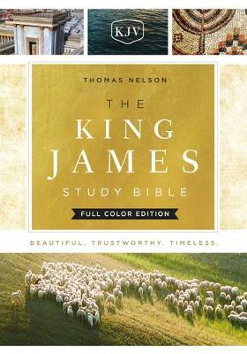 KJV, The King James Study Bible, Cloth over Board, Red Letter, Full-Color Edition (Hardback)