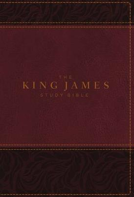 KJV, The King James Study Bible, Imitation Leather, Burgundy, Full-Color Edition (Leather / fine binding)