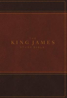 KJV, The King James Study Bible, Leathersoft, Brown, Indexed, Red Letter, Full-Color Edition (Leather / fine binding)