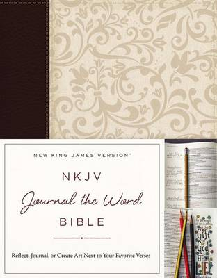 NKJV, Journal the Word Bible, Imitation Leather, Brown/Cream, Red Letter Edition: Reflect, Journal, or Create Art Next to Your Favorite Verses (Paperback)