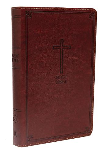 KJV, Deluxe Gift Bible, Imitation Leather, Brown, Red Letter Edition, Comfort Print (Leather / fine binding)