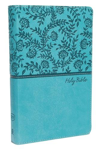 KJV, Deluxe Gift Bible, Imitation Leather, Blue, Red Letter Edition, Comfort Print (Leather / fine binding)