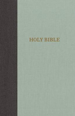 KJV, Thinline Bible, Large Print, Cloth over Board, Gray/Green, Red Letter Edition, Comfort Print (Hardback)