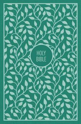 KJV, Thinline Bible, Large Print, Cloth over Board, Green, Red Letter Edition, Comfort Print (Hardback)