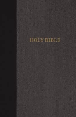 KJV, Thinline Bible, Standard Print, Cloth over Board, Black/Gray, Red Letter Edition, Comfort Print (Hardback)