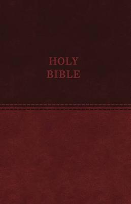 KJV, Value Thinline Bible, Standard Print, Leathersoft, Brown, Red Letter Edition, Comfort Print (Leather / fine binding)