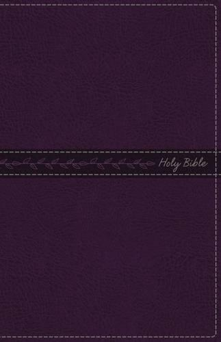 KJV, Thinline Bible, Standard Print, Leathersoft, Purple, Red Letter Edition, Comfort Print (Leather / fine binding)