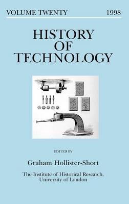 History of Technology: Vol.20, 1998 - History of technology series (Hardback)