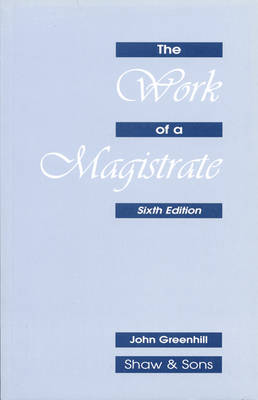 The Work of a Magistrate (Paperback)