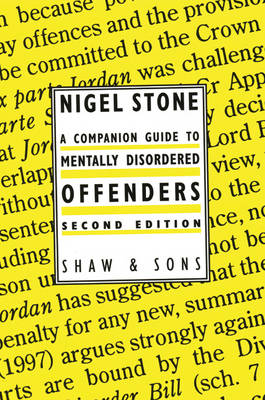 A Companion Guide to Mentally Disordered Offenders (Paperback)
