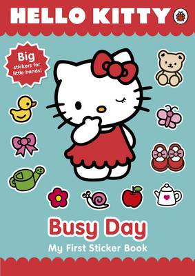 Hello Kitty's Busy Day: My First Sticker Book (Paperback)
