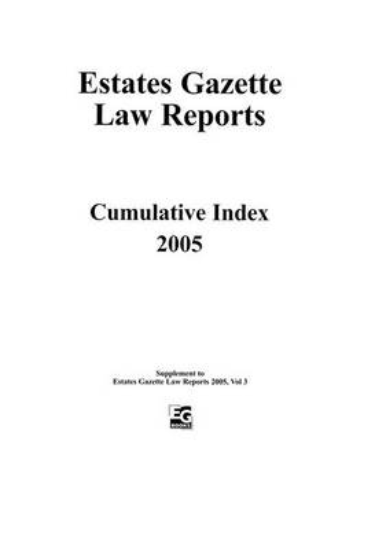 EGLR 2005 Index (Paperback)