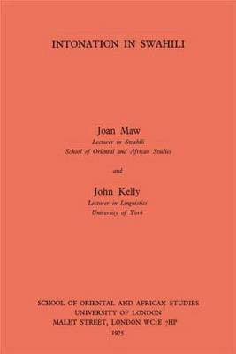 Intonation in Swahili (Paperback)