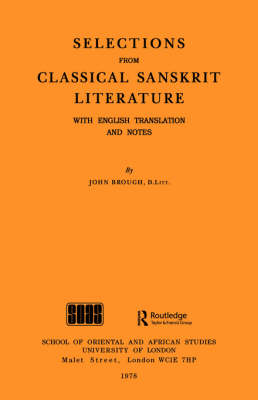 Selections from Classical Sanskrit Literature (Paperback)