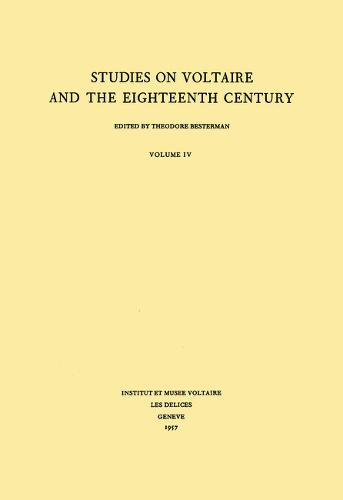 Miscellany/Melanges 1957 - Oxford University Studies in the Enlightenment 4 (Hardback)
