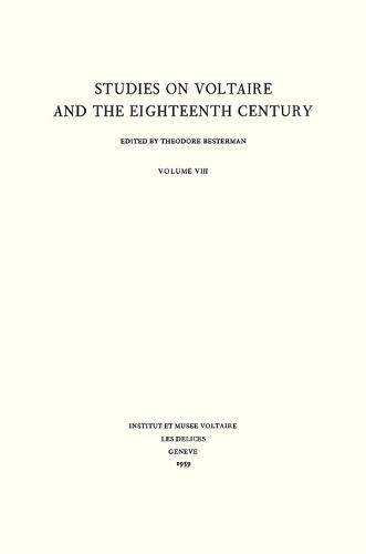 Miscellany/Melanges 1959 - Oxford University Studies in the Enlightenment 8 (Hardback)