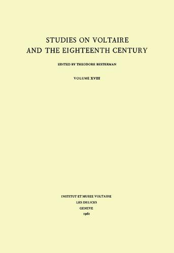 Miscellany/Melanges - Studies on Voltaire & the Eighteenth Century 18 (Hardback)