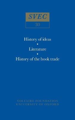 Miscellany/Melanges - Studies on Voltaire & the Eighteenth Century 30 (Hardback)
