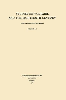 Miscellany/Melanges 1968 - Oxford University Studies in the Enlightenment 60 (Paperback)