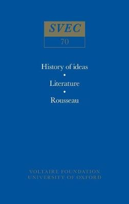 Miscellany/Melanges 1970 - Oxford University Studies in the Enlightenment 70 (Paperback)