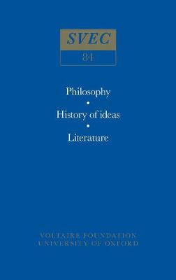 Miscellany/Melanges 1971 - Oxford University Studies in the Enlightenment 84 (Paperback)