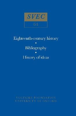 Miscellany/Melanges 1968 - Oxford University Studies in the Enlightenment 64 (Paperback)