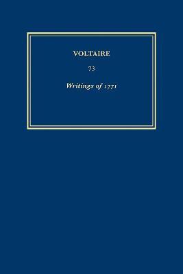 Aiuvres De 1771: Writings of 1771 les Lois de Minos et Autres Textes - Oeuvres Completes de Voltaire v. 73 (Hardback)