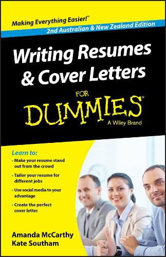 Writing Resumes and Cover Letters For Dummies - Australia / NZ (Paperback)