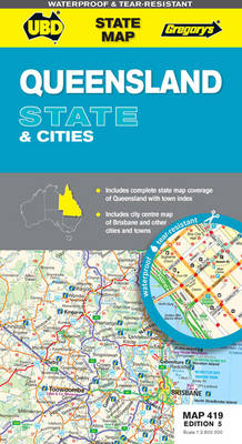 Queensland State and Cities Map 419