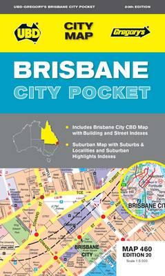 Brisbane City Pocket Map 460 20th ed (Sheet map, folded)