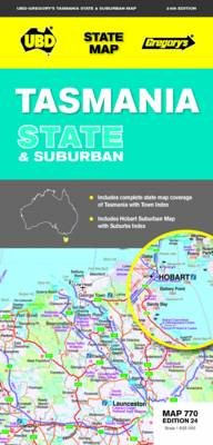 Tasmania State and Suburban Map 770 (Sheet map, folded)