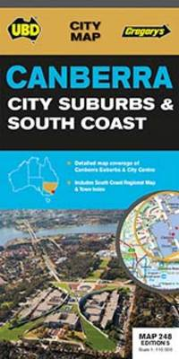 Canberra City, Suburbs & South Coast Map 248 5th ed - City Map (Sheet map, folded)