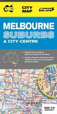 Melbourne Suburbs & City Centre Map 318 6th ed - City Map (Sheet map, folded)