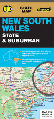 NSW State & Suburban Map 270 26th ed - State Map (Sheet map, folded)