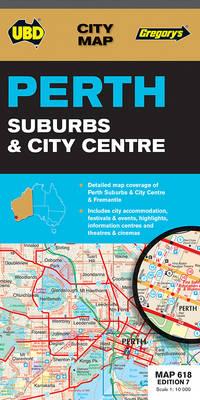 Perth Suburbs & City Centre Map 618 7th ed - City Map (Sheet map, folded)