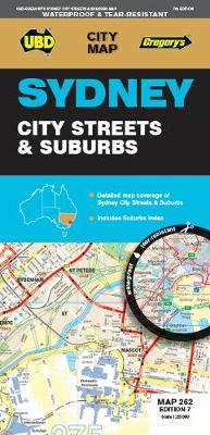 Sydney City Street & Suburbs Map 262 7ed (Sheet map)