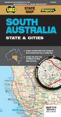 Ubd Gregorys South Australia State & Cities Map 519 8th Ed (Paperback)