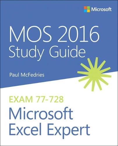 MOS 2016 Study Guide for Microsoft Excel Expert (Paperback)