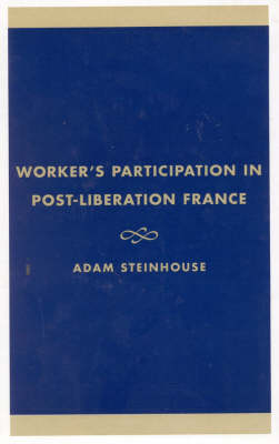 Workers' Participation in Post-Liberation France (Hardback)