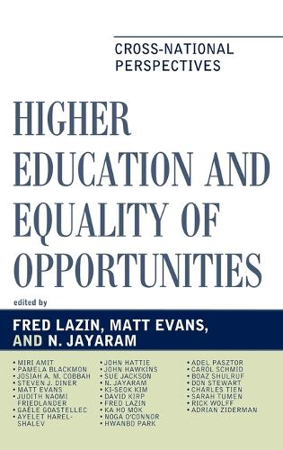 Higher Education and Equality of Opportunity: Cross-National Perspectives - Studies in Public Policy (Hardback)