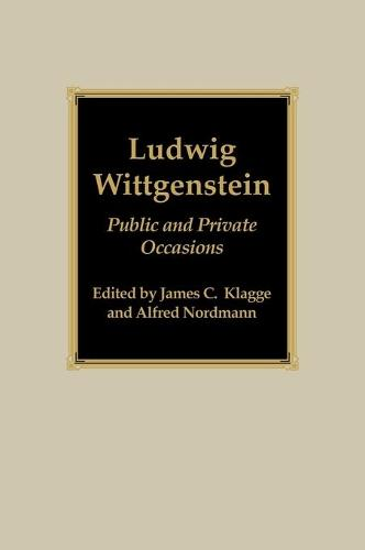 Ludwig Wittgenstein: Public and Private Occasions (Hardback)