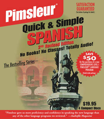 Cover Pimsleur Spanish Quick & Simple Course - Level 1 Lessons 1-8 CD: Learn to Speak and Understand Latin American Spanish with Pimsleur Language Programs - Quick & Simple 1