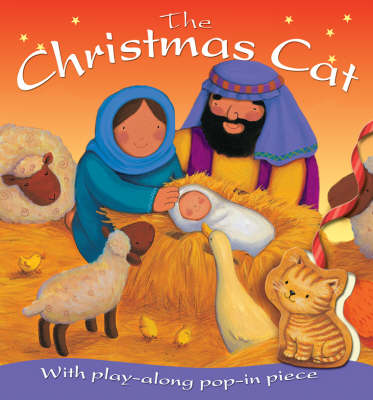 The Christmas Cat: With Play-Along Pop-in Piece - Look & Play (Board book)