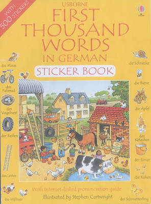 First 1000 Words in German Sticker Book - First Thousand Words Sticker Book (Paperback)