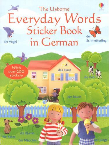 Everyday Words In German Sticker Book (Paperback)