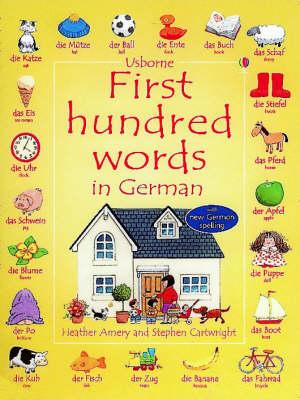 First Hundred Words In German Sticker book (Hardback)