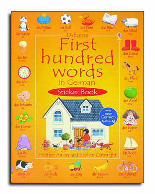 First Hundred Words In German Sticker book (Paperback)