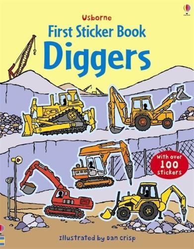 Diggers Sticker Book - First Sticker Books (Paperback)