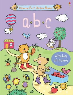 ABC Sticker Book - First Sticker Books (Hardback)
